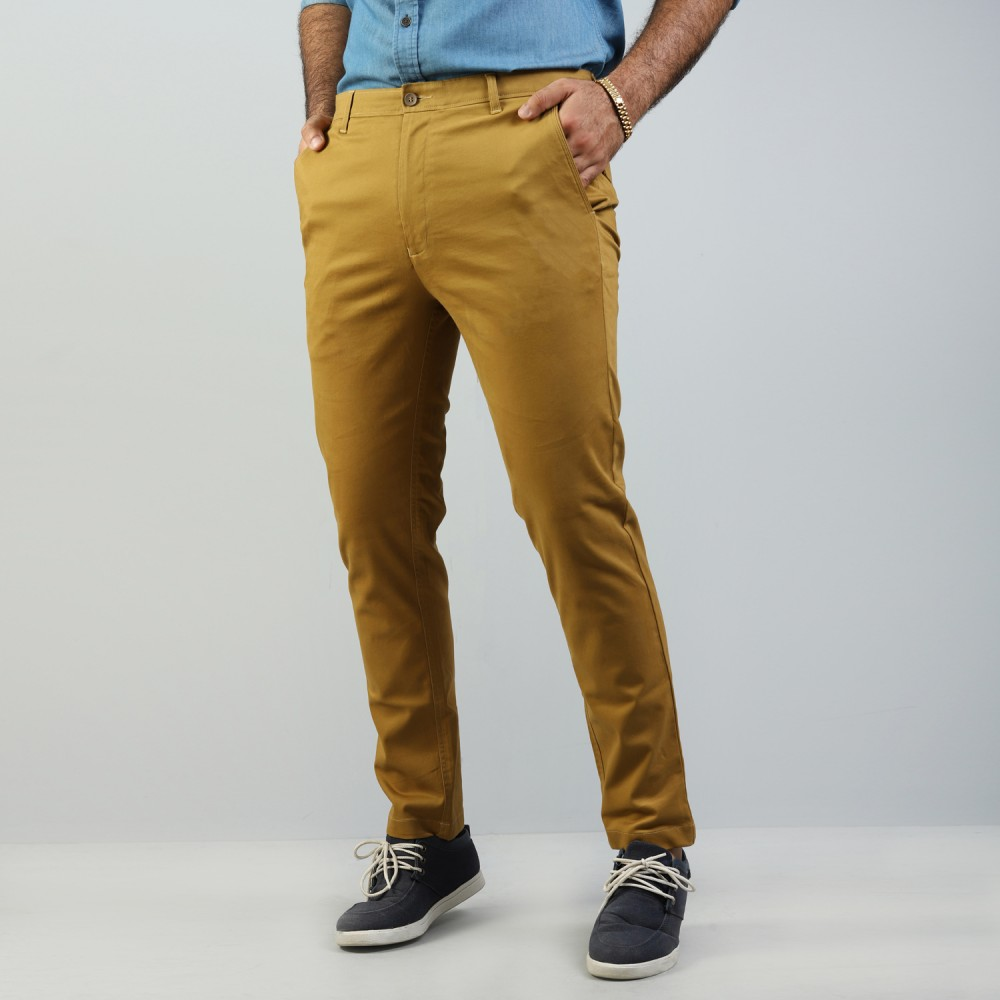 Mustard Chino Stretch Trouser