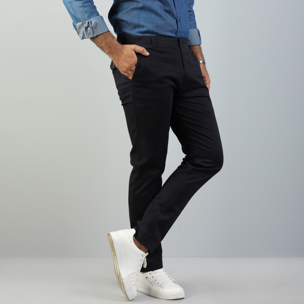 Navy Chino Stretch Trouser