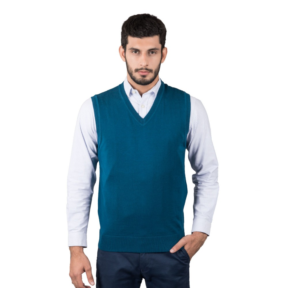 Sweater - Merino Wool Sea Green Plain - Regular