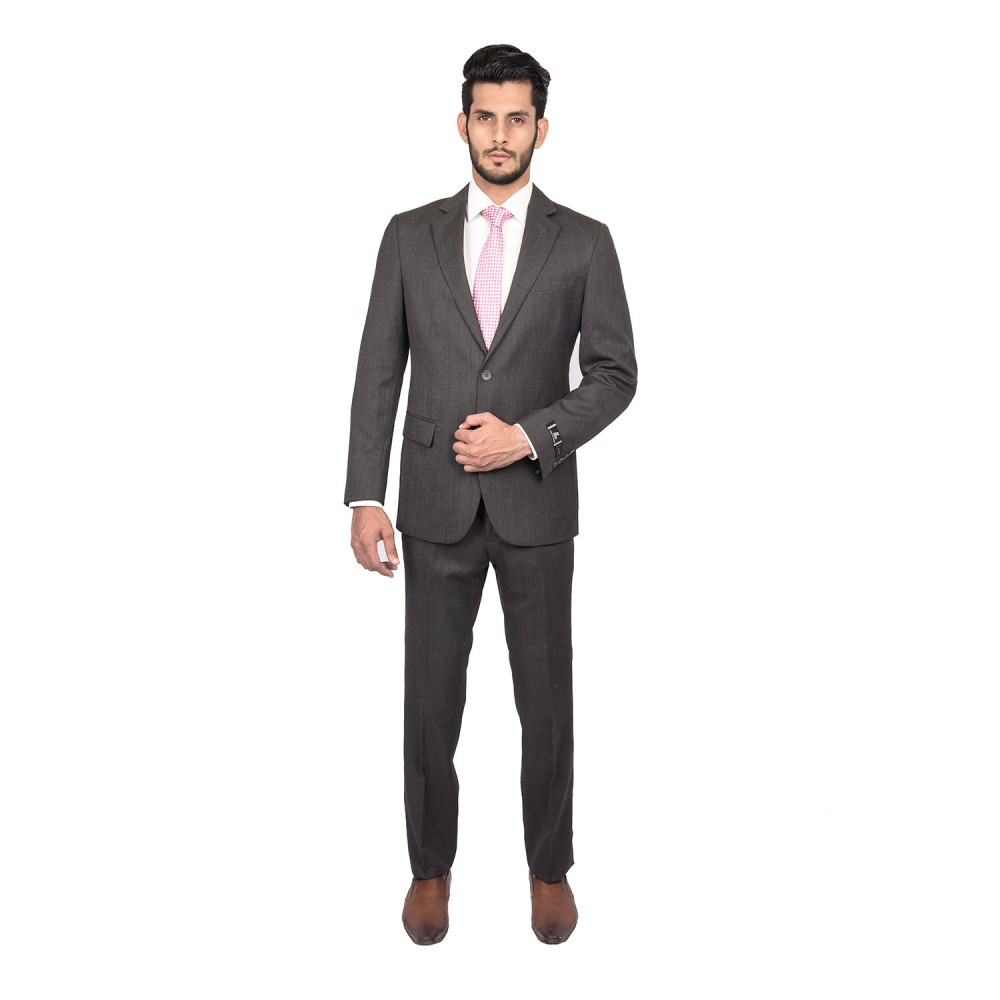 Suit Dedum Grey Plain - Slim