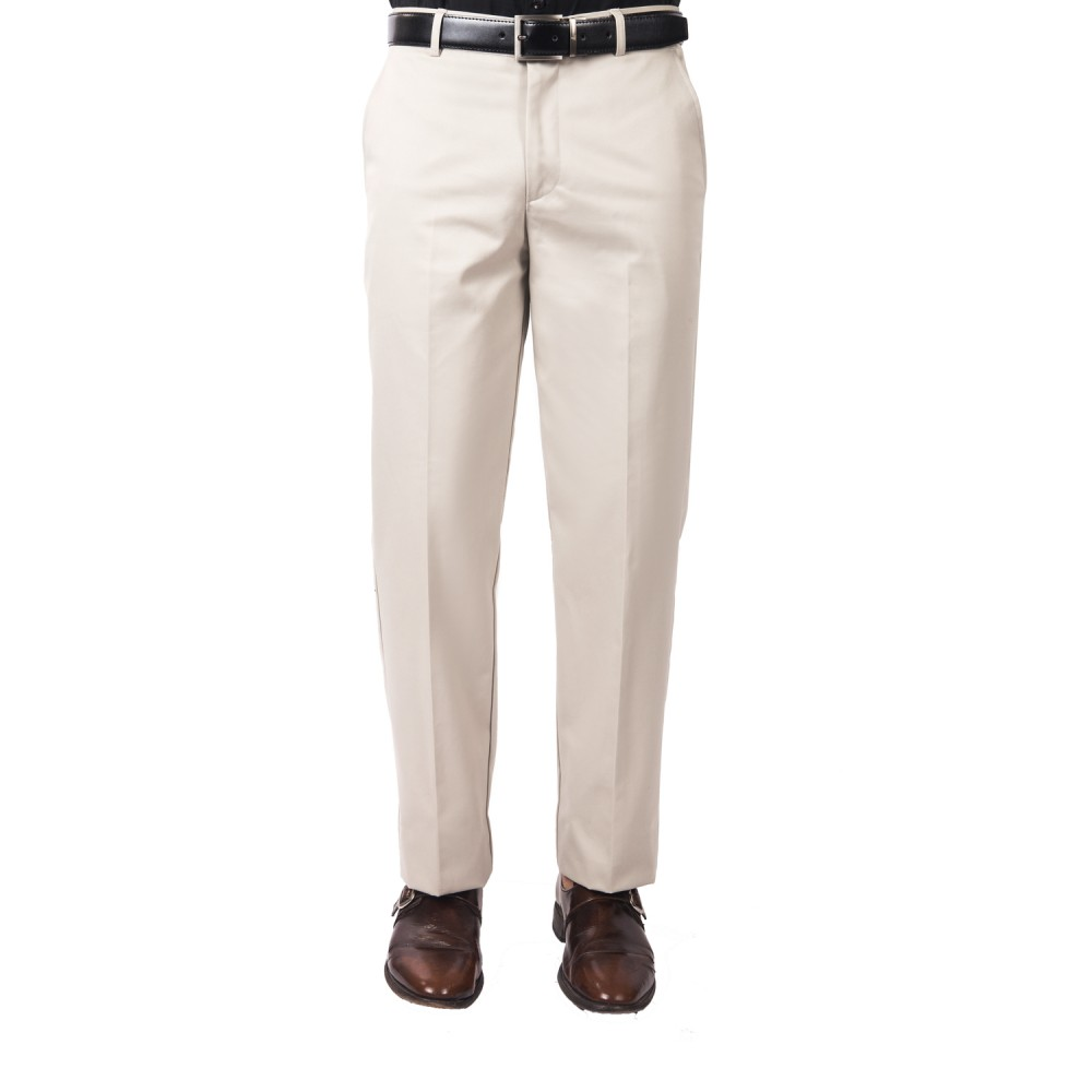 Trouser - 100% Cotton Wrinkle Free Cloud Plain