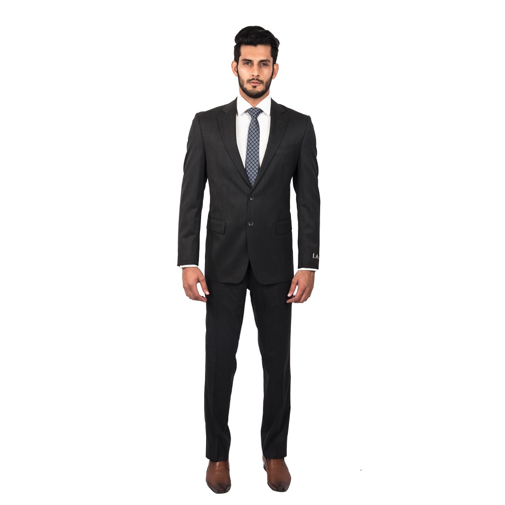 Suit  Tropical Classic (P) Black Plain - Regular