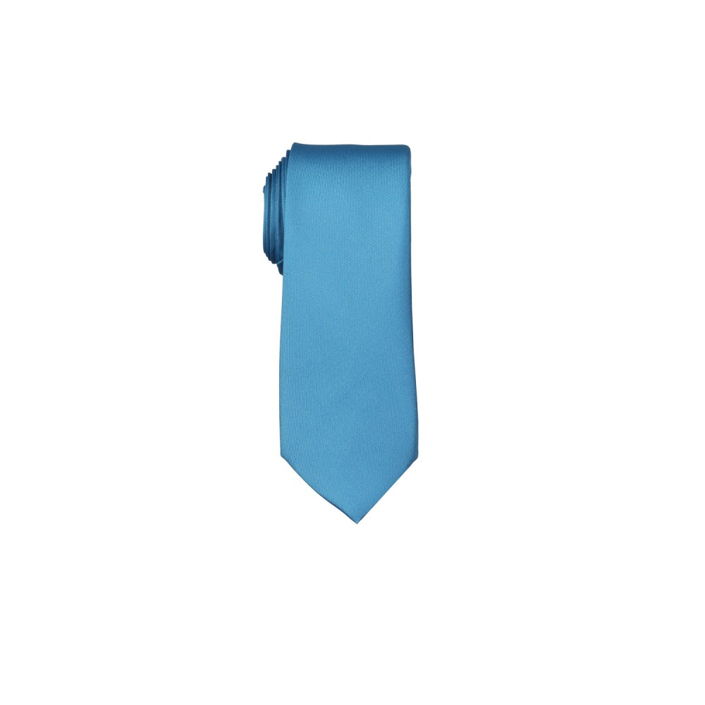 Ties - Satin Blue Plain