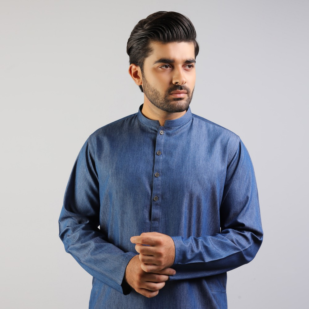 Bermuda Blue Denim Kurta