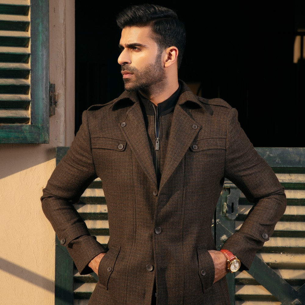 Multi Checks, Wool Rich - Worsted Tweed Double Jacket