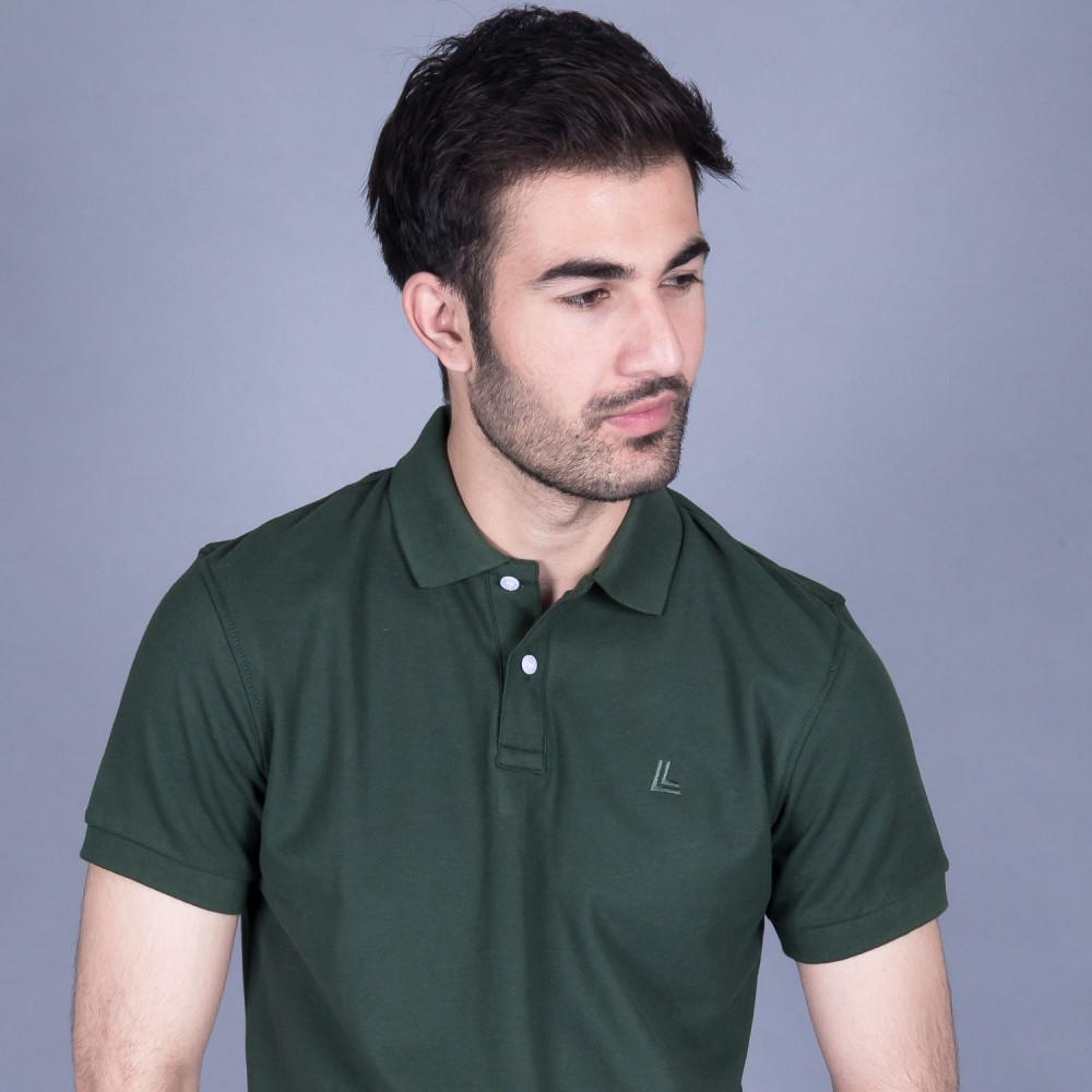 Forest Green Pique Polo Shirt