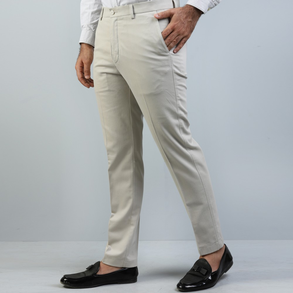 Sand Tan Wrinkle Free Trouser
