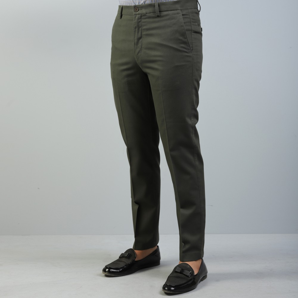 Seaweed Green Wrinkle Free Trouser
