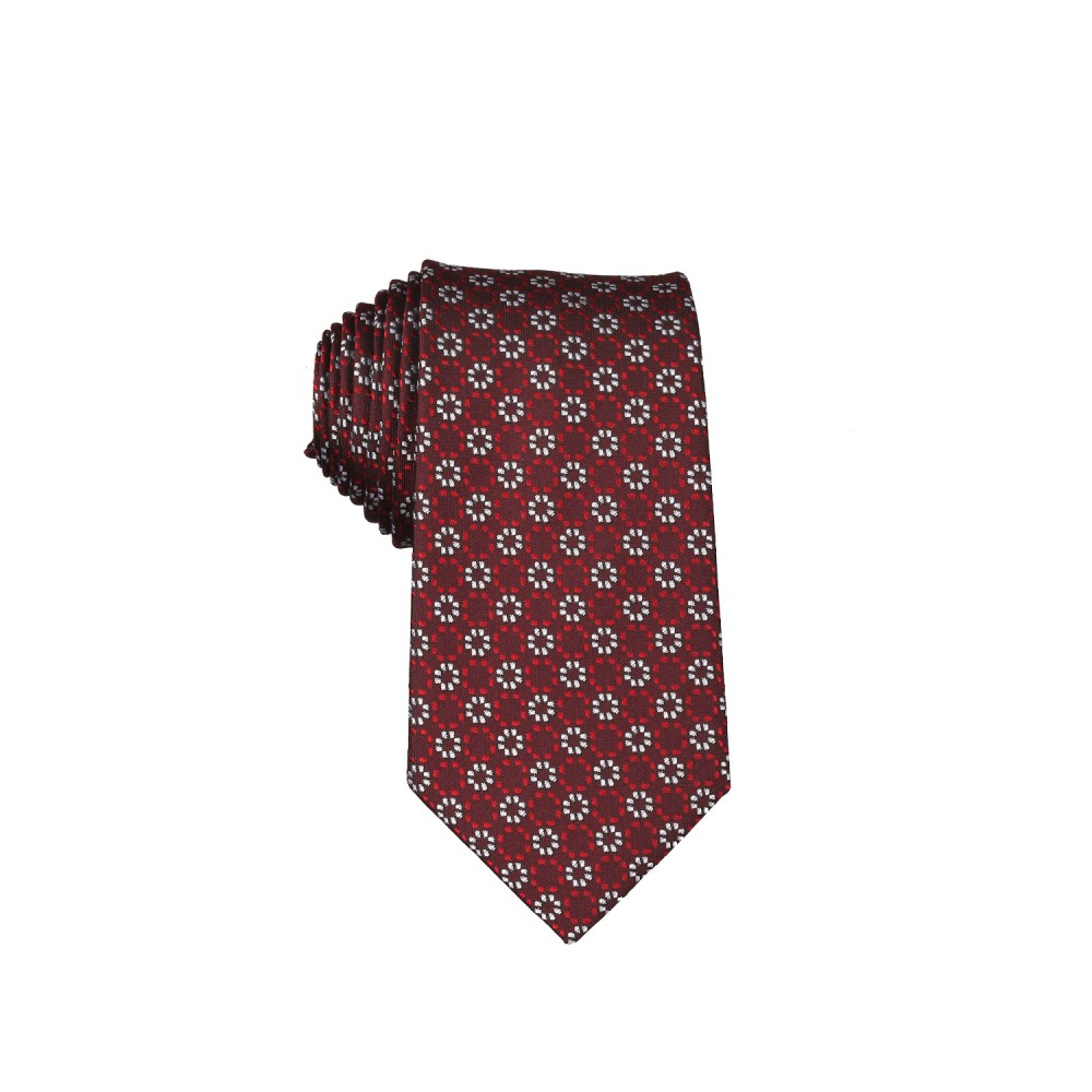 Ties - Silk Rich Red Geometric