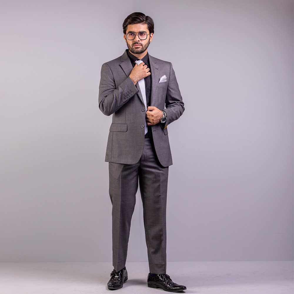 Plain Florence Grey Suit Regular