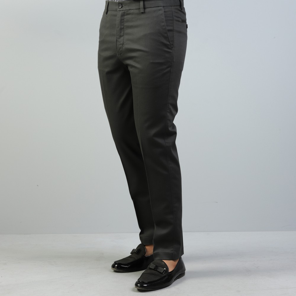 Steel Grey Wrinkle Free Trouser