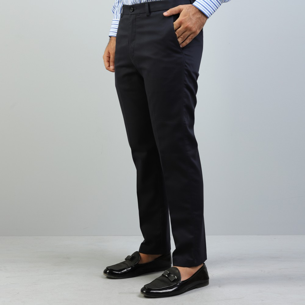 Navy Blue Wrinkle Free Trouser