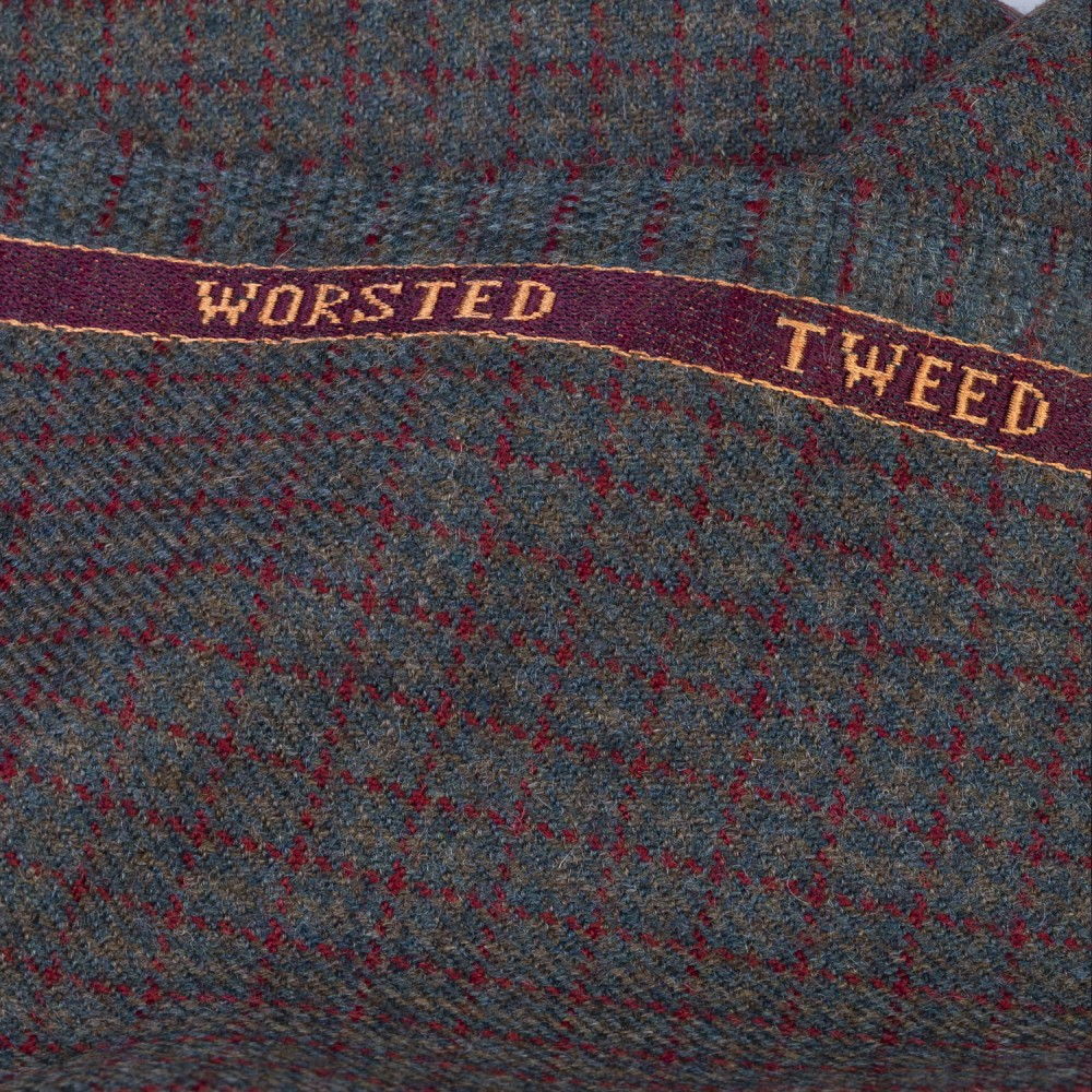Brown based Mini Check Worsted Tweed