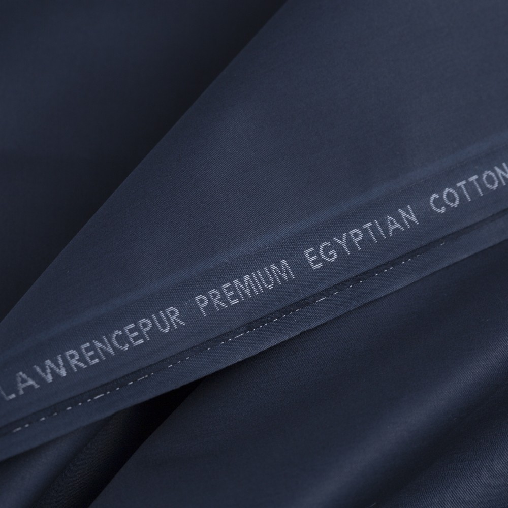 Plain Navy Blue Premium Egyptian Cotton Fabric