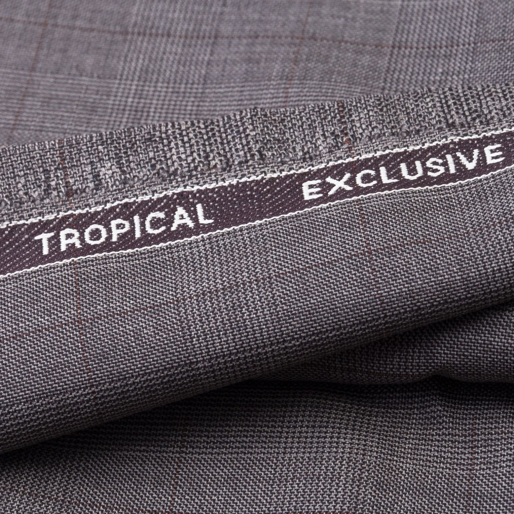 Medium Brown Glen Check Tropical Exclusive