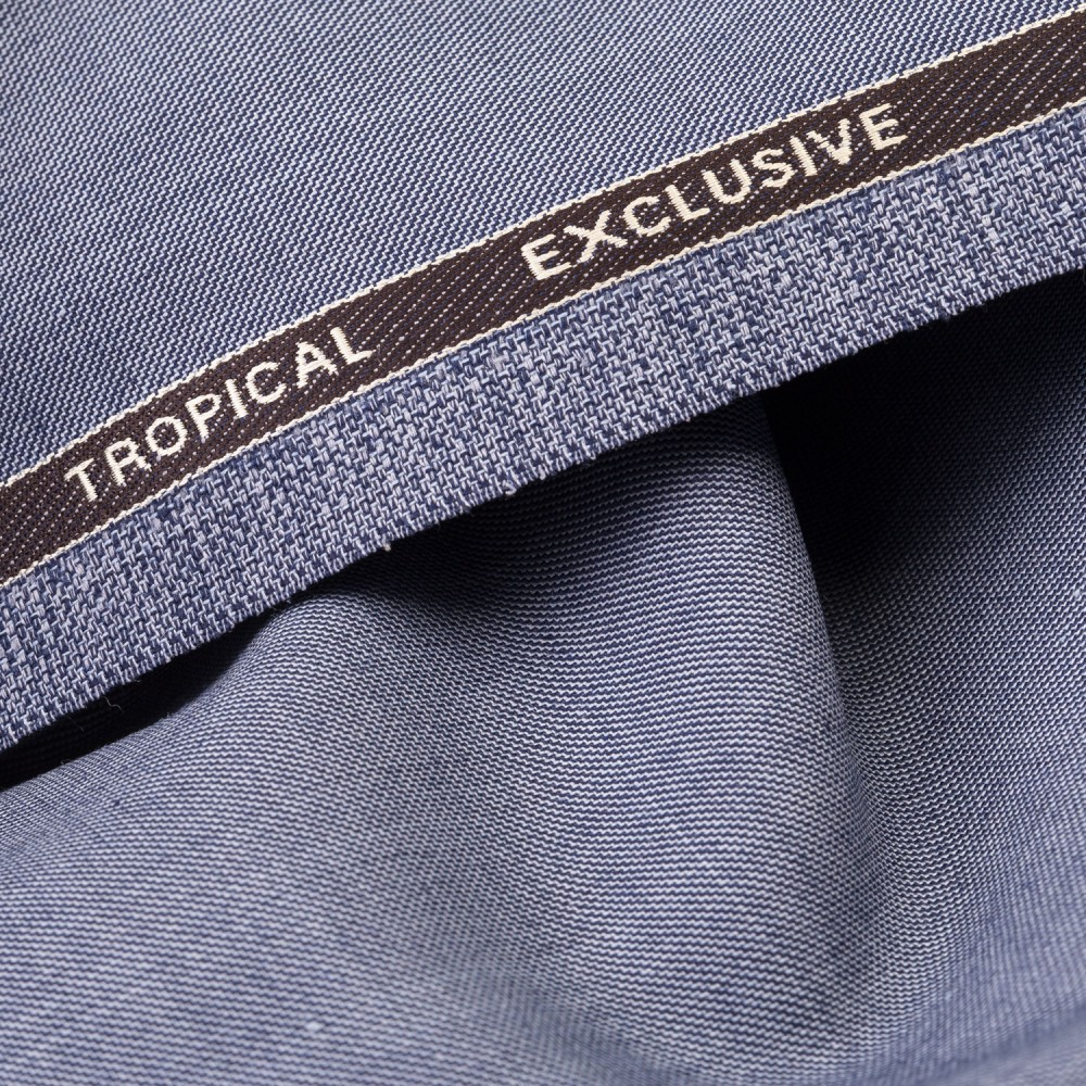 Greyish Light Blue Textured Tropical Exclusive