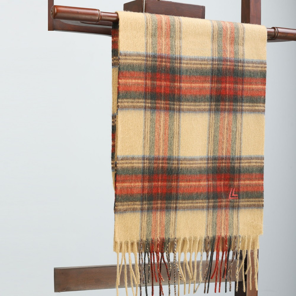 Mustard Brown Check Scarf
