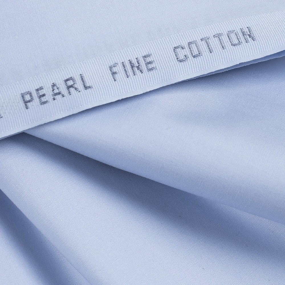 Plain Arctic Blue Pearl Fine Cotton Fabric