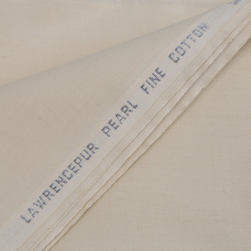Plain Cream Pearl Fine Cotton Fabric