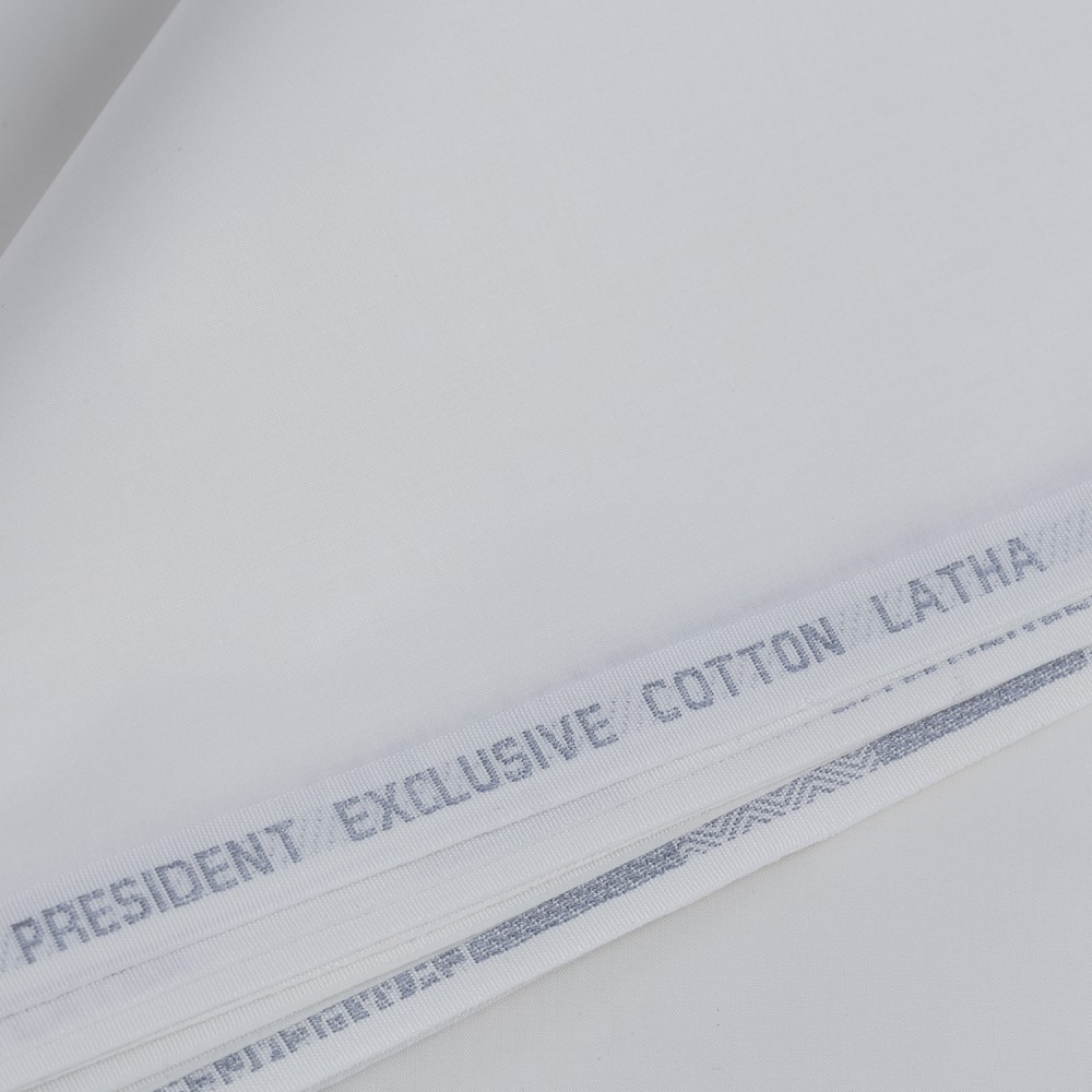 Plain Slate Grey President Exclusive Cotton Latha Fabric