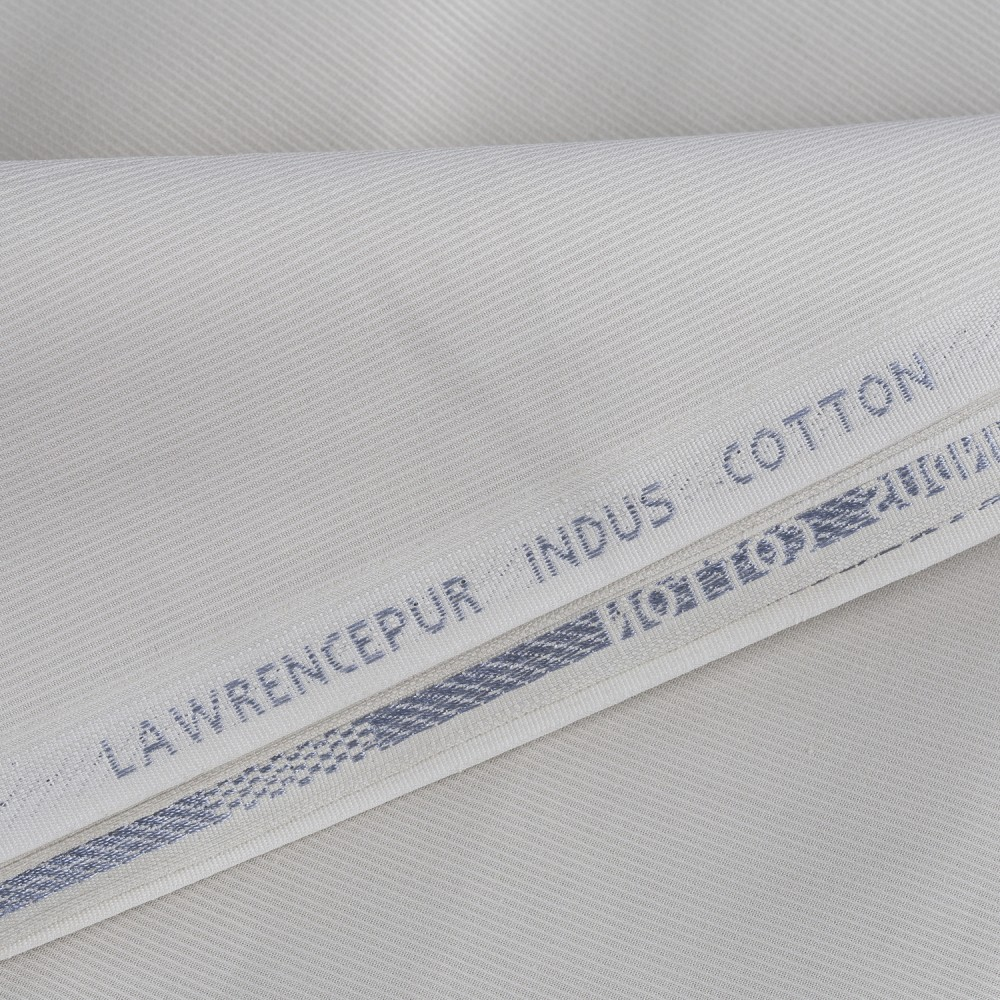 Egg White Dobby Design Indus Cotton Fabric