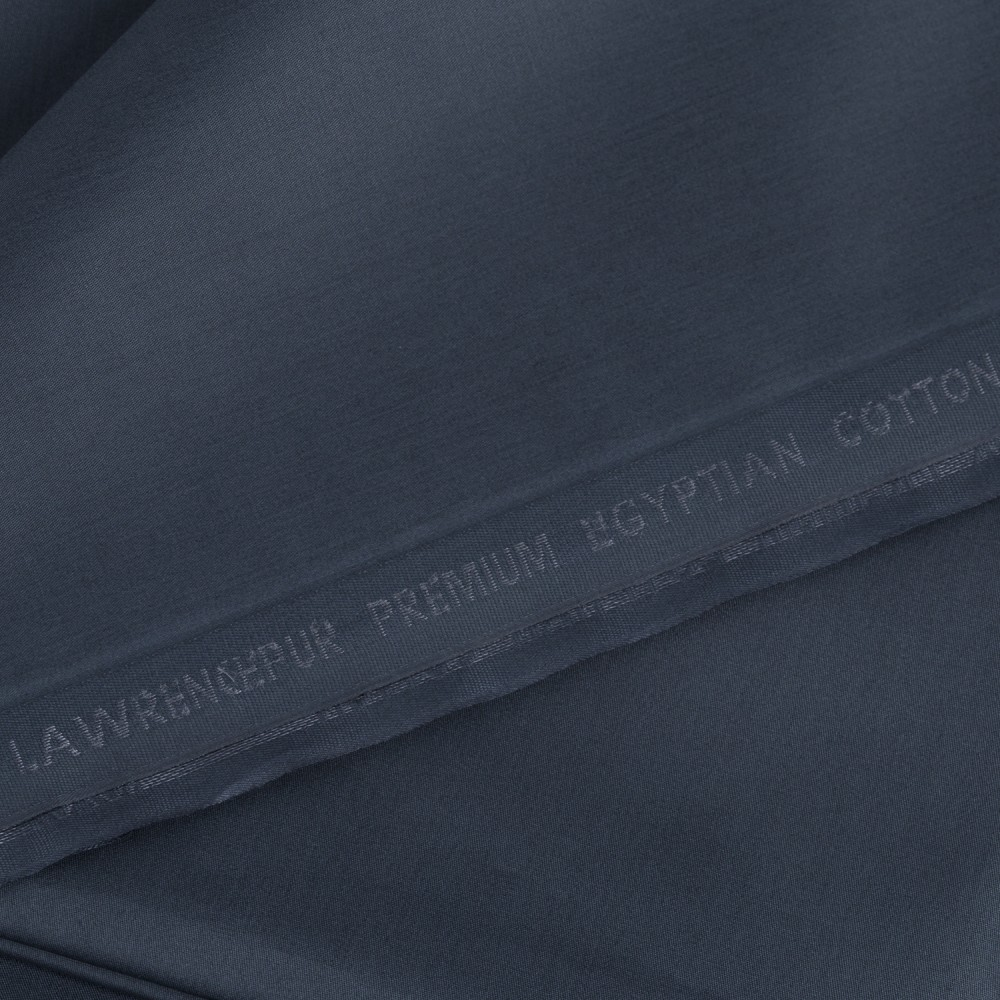 Plain Dark Steel Grey Premium Egyptian Cotton Fabric