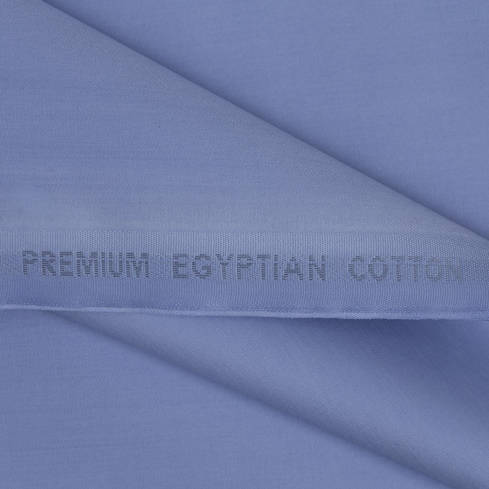 Plain Cornflower Blue Premium Egyptian Cotton Fabric