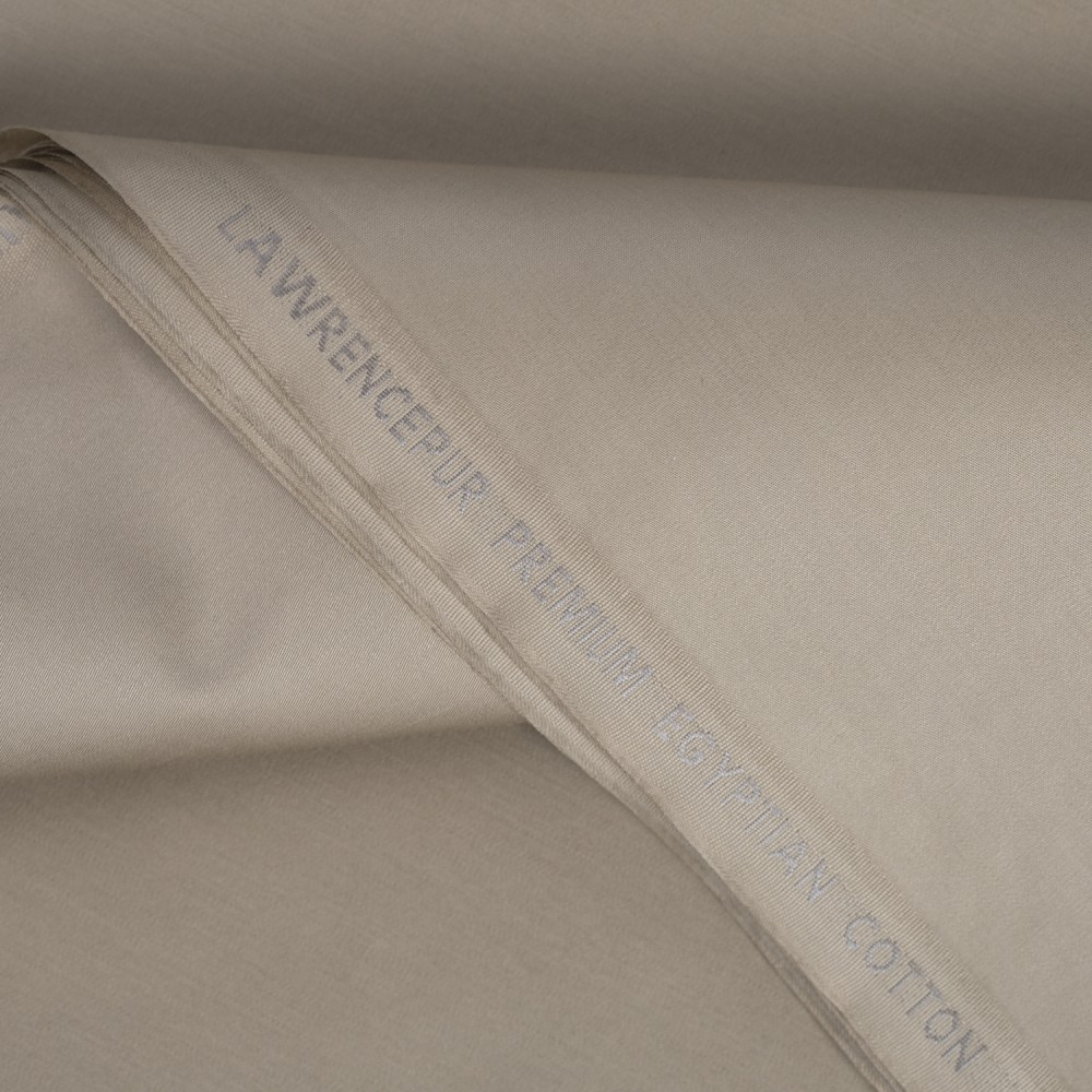Plain Tan Brown Premium Egyptian Cotton Fabric