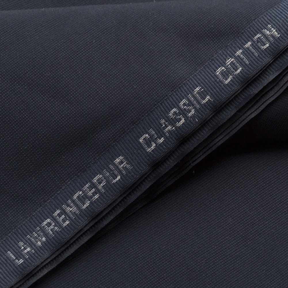 Self Textured Navy Blue Classic Cotton Fabric