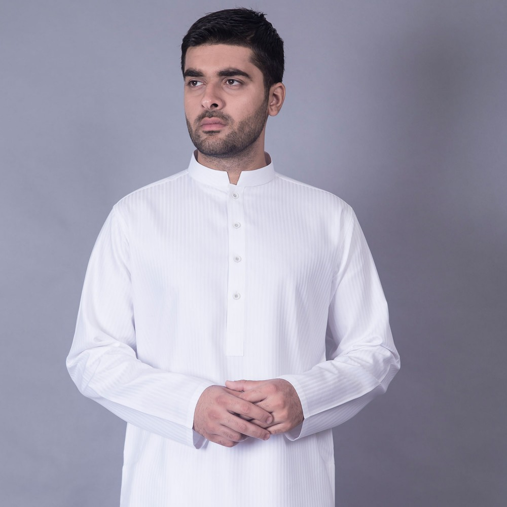Kurta White Stripes
