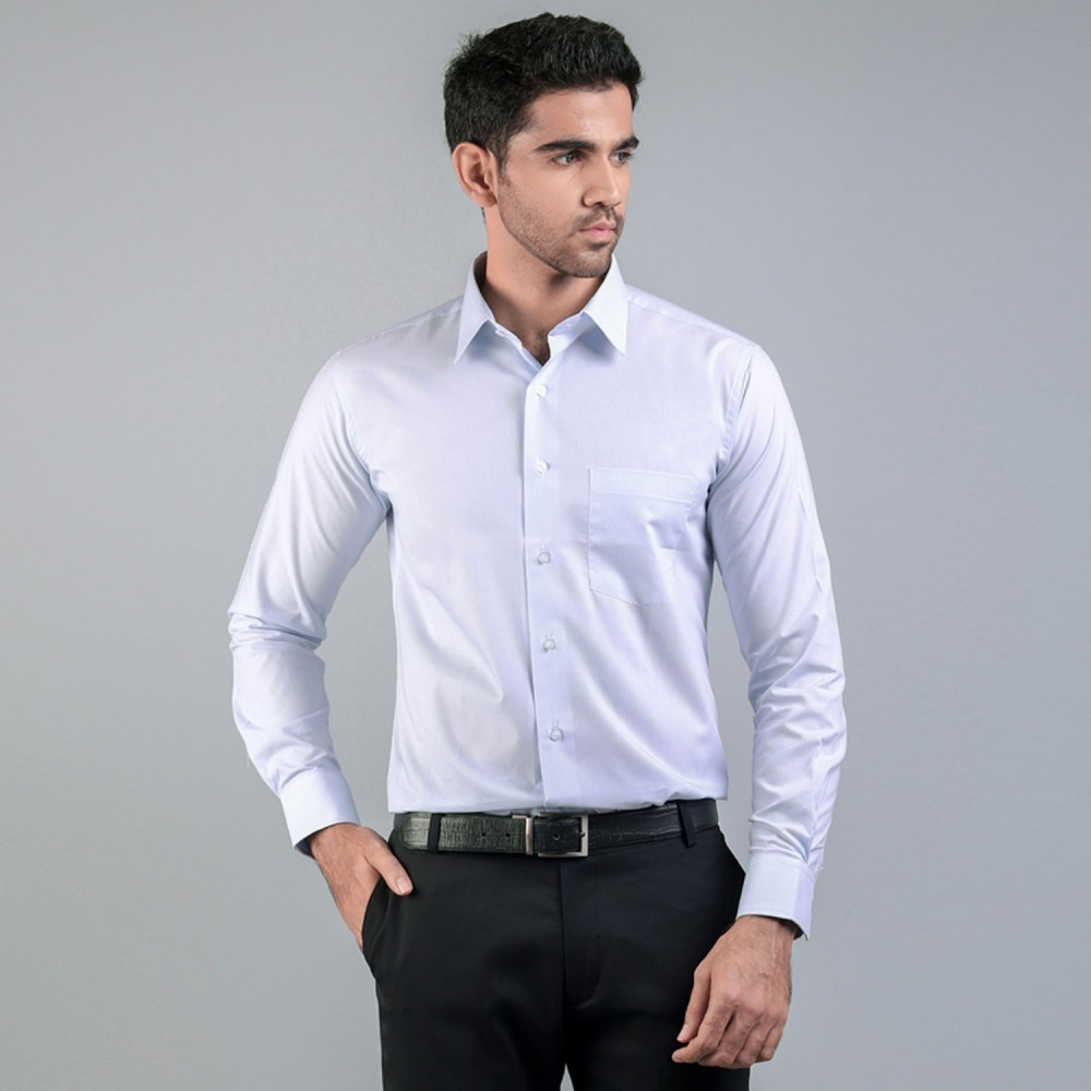 Light Blue HairLine Stripes Formal Shirt