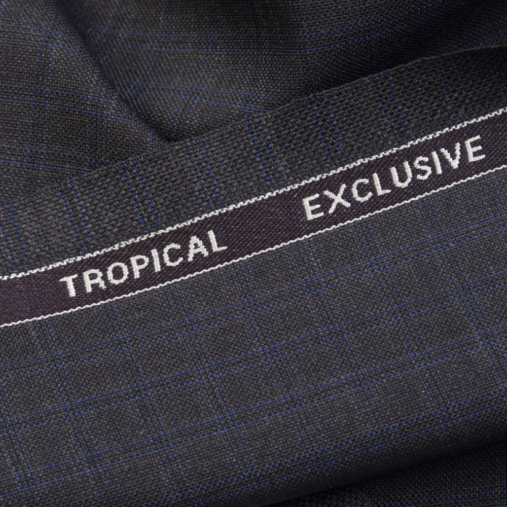 Brownish Green Window Check Tropical Exclusive (D)