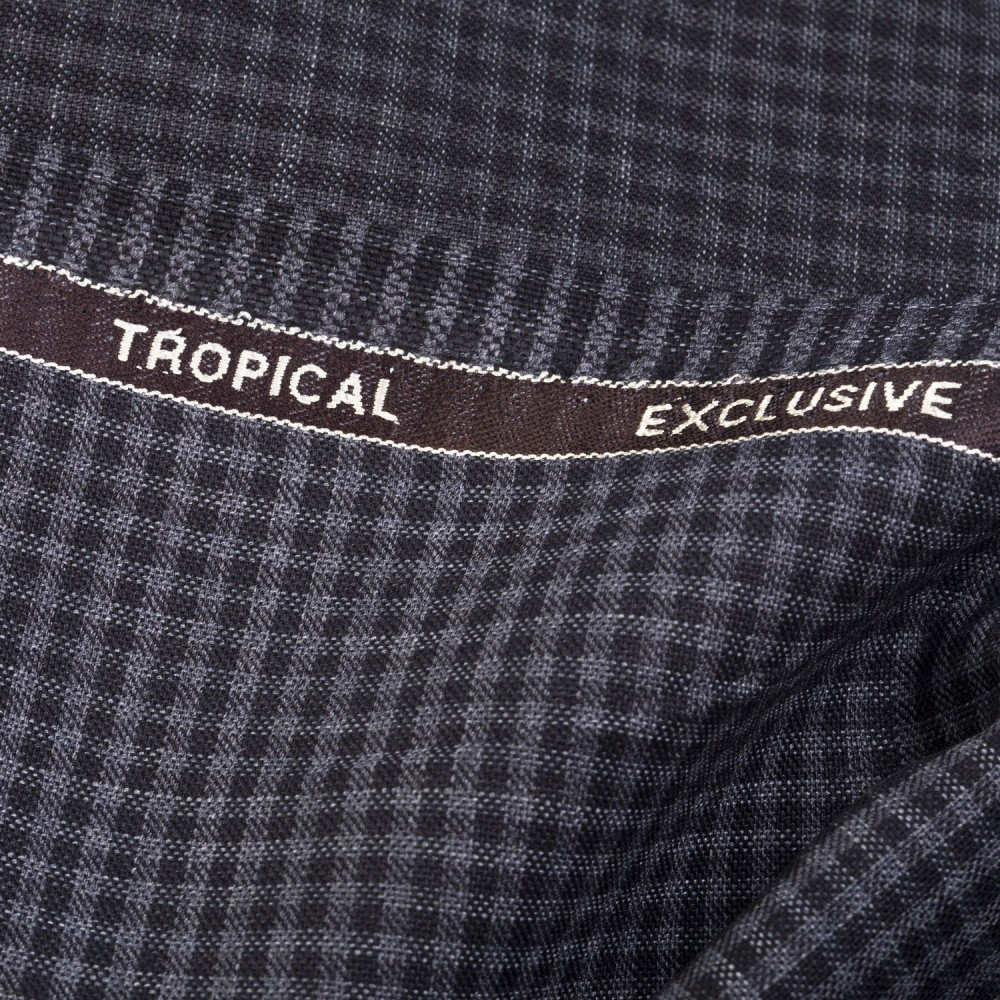 Grey Black  Gingham Check Tropical Exclusive (D)