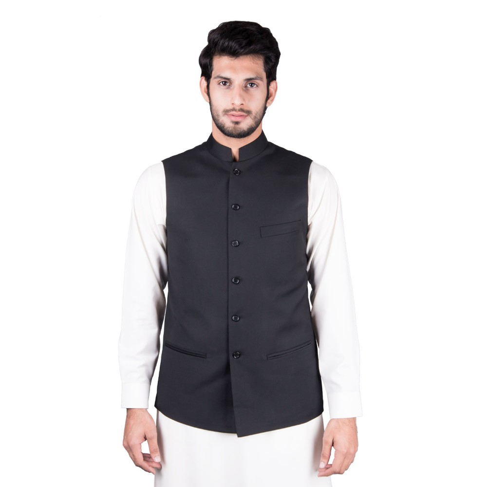 Waist Coat - Tropical Exclusive (P) Black Plain
