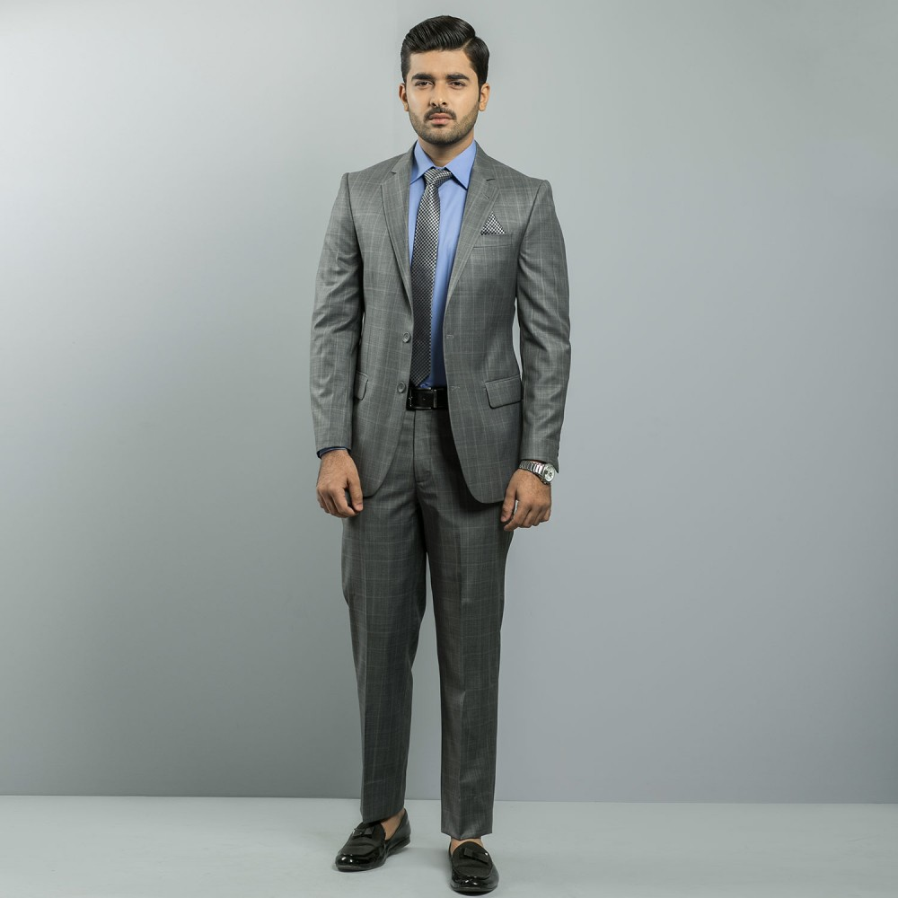 Grey Window Plane  Ivory Premium Suit