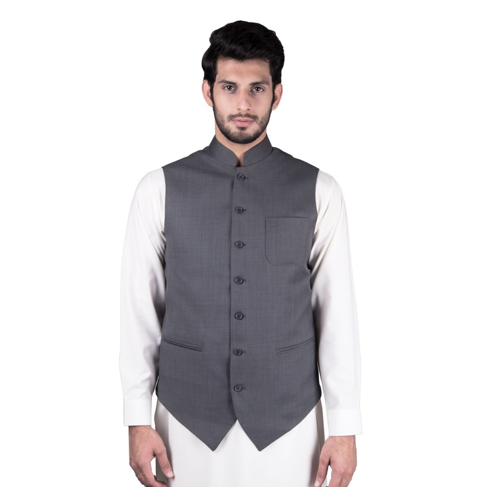 Waist Coat - Tropical Exclusive (D) Grey Textured