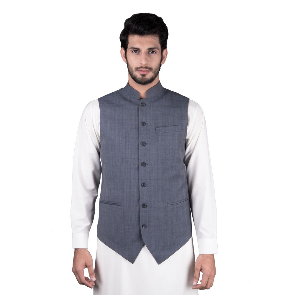 Waist Coat - Tropical Exclusive (D) Grey Checks