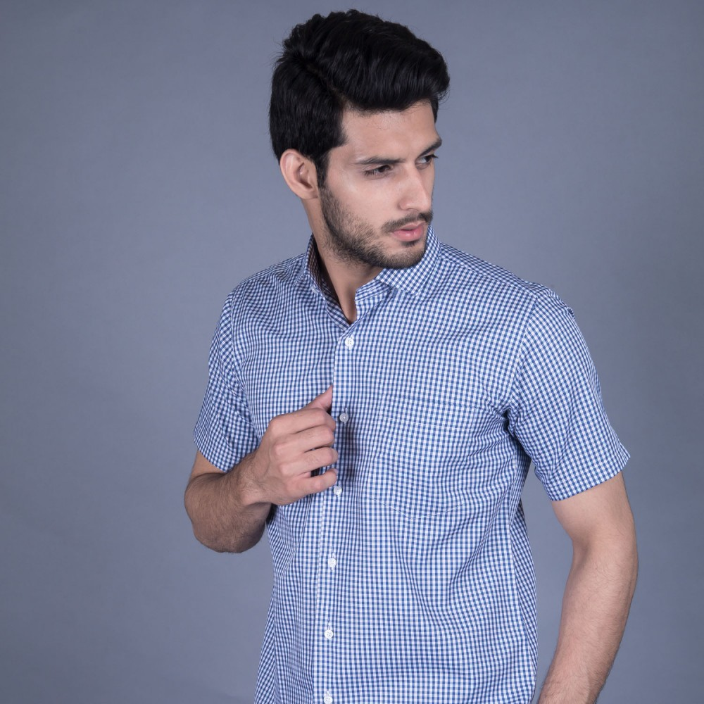Half Sleeves Shirt - Delta-1 Multi Checks