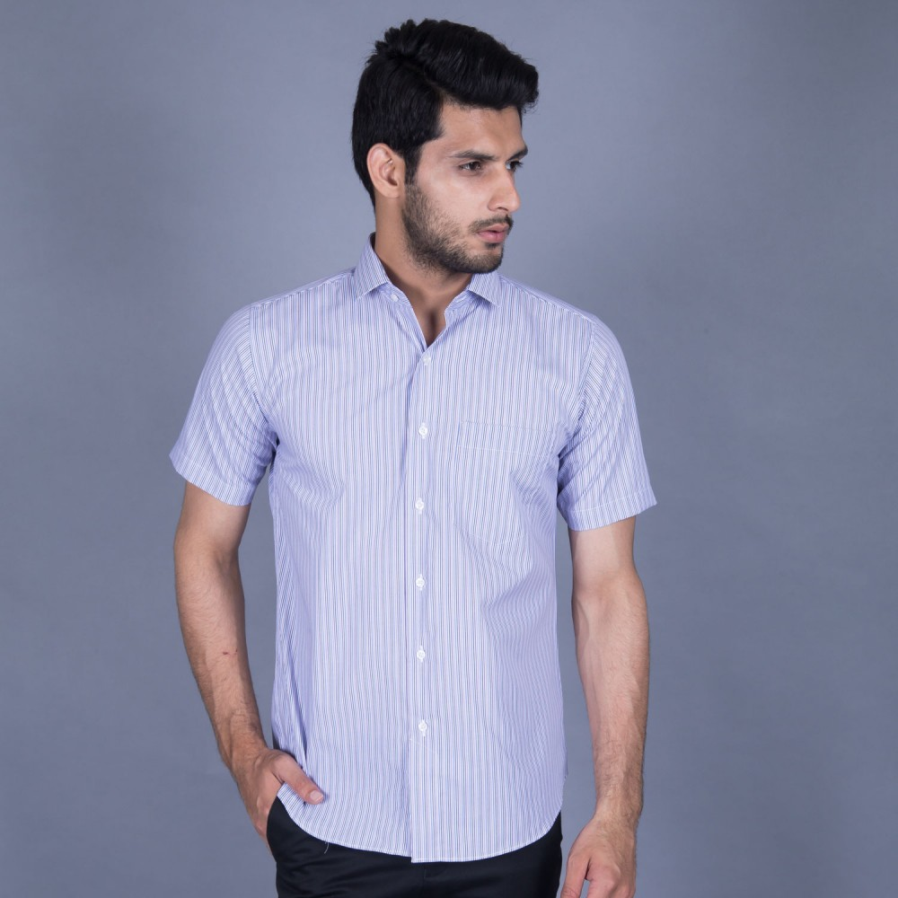 Half Sleeves Shirt - Delta-1 Multi Stripes