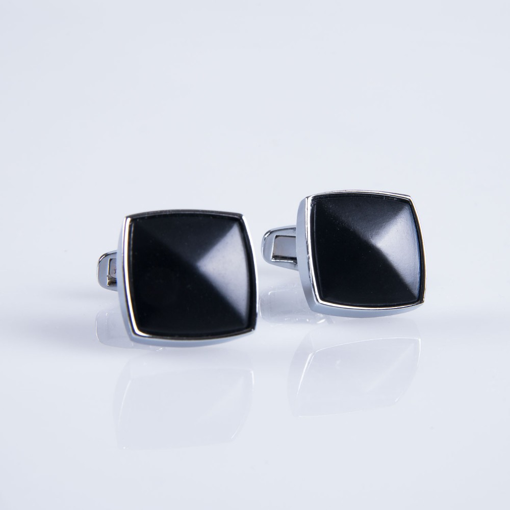 Cufflinks - Black Plain