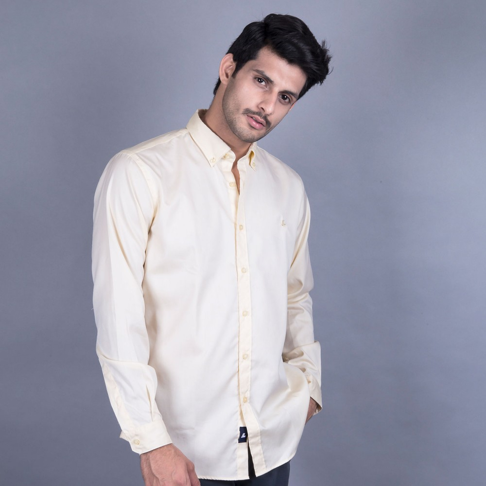 Casual Shirt - Charlie-I Yellow  Plain