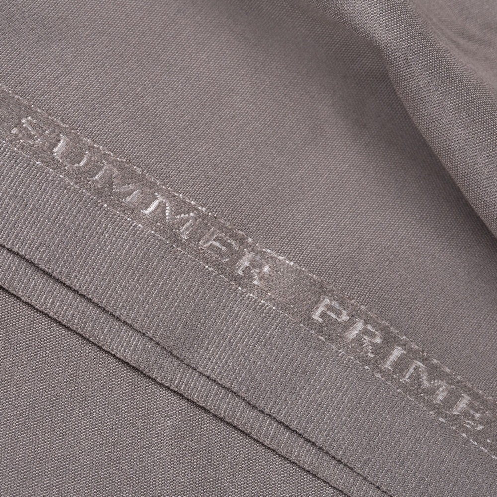 Plain Greyish Beige Summer Prime Fabric