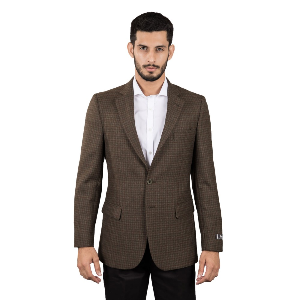 Jacket - Worsted Tweed Green Checks - Regular