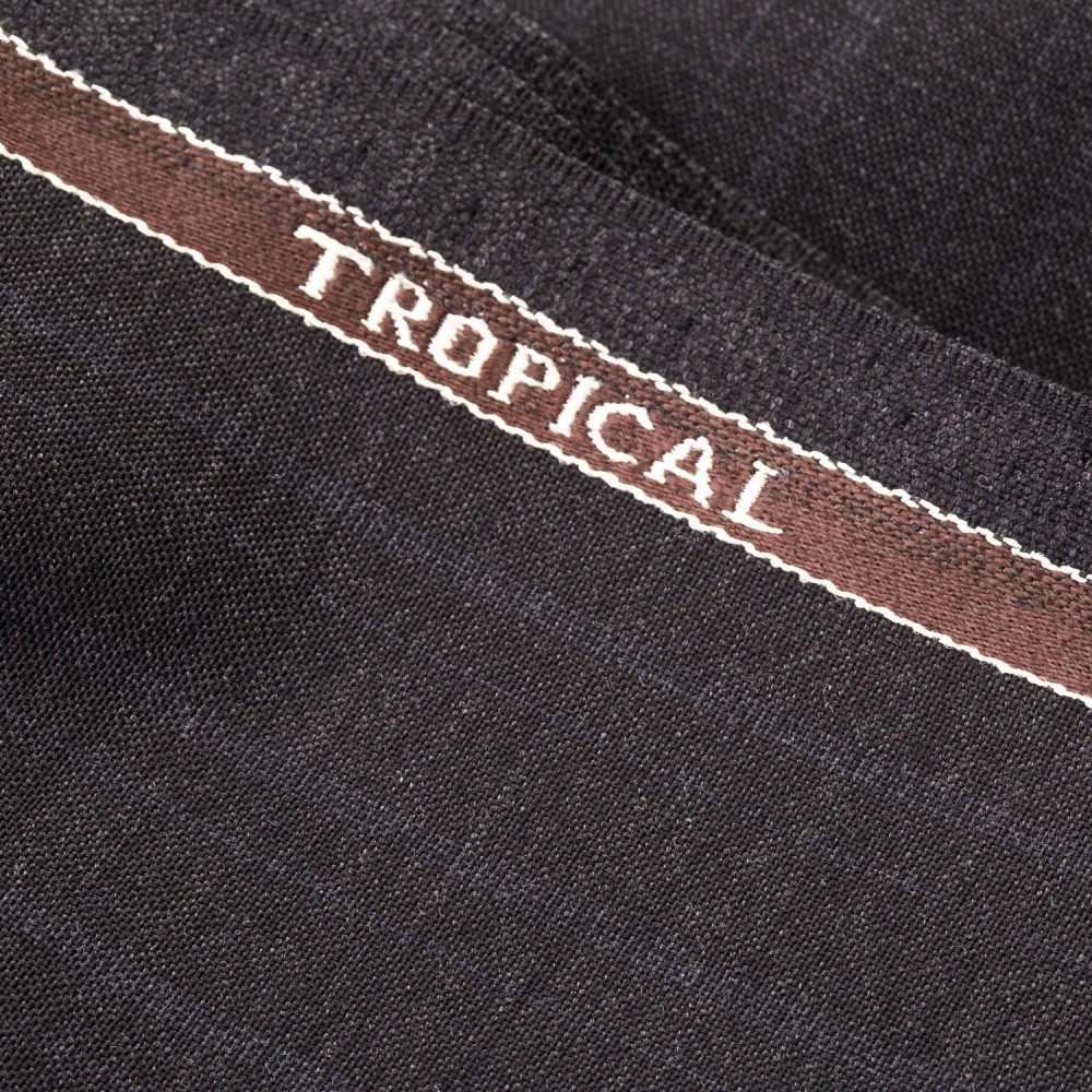 Medium Grey Subdued Stripe Tropical Classic