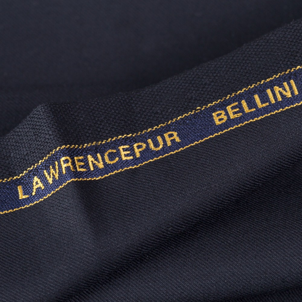Plain Black Super 100s, Bellini Suiting Fabric