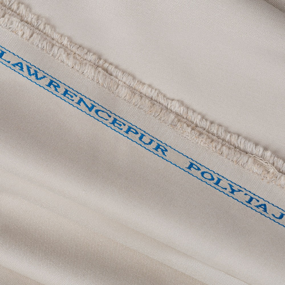 Plain Light Beige PV Poly Taj Fabric