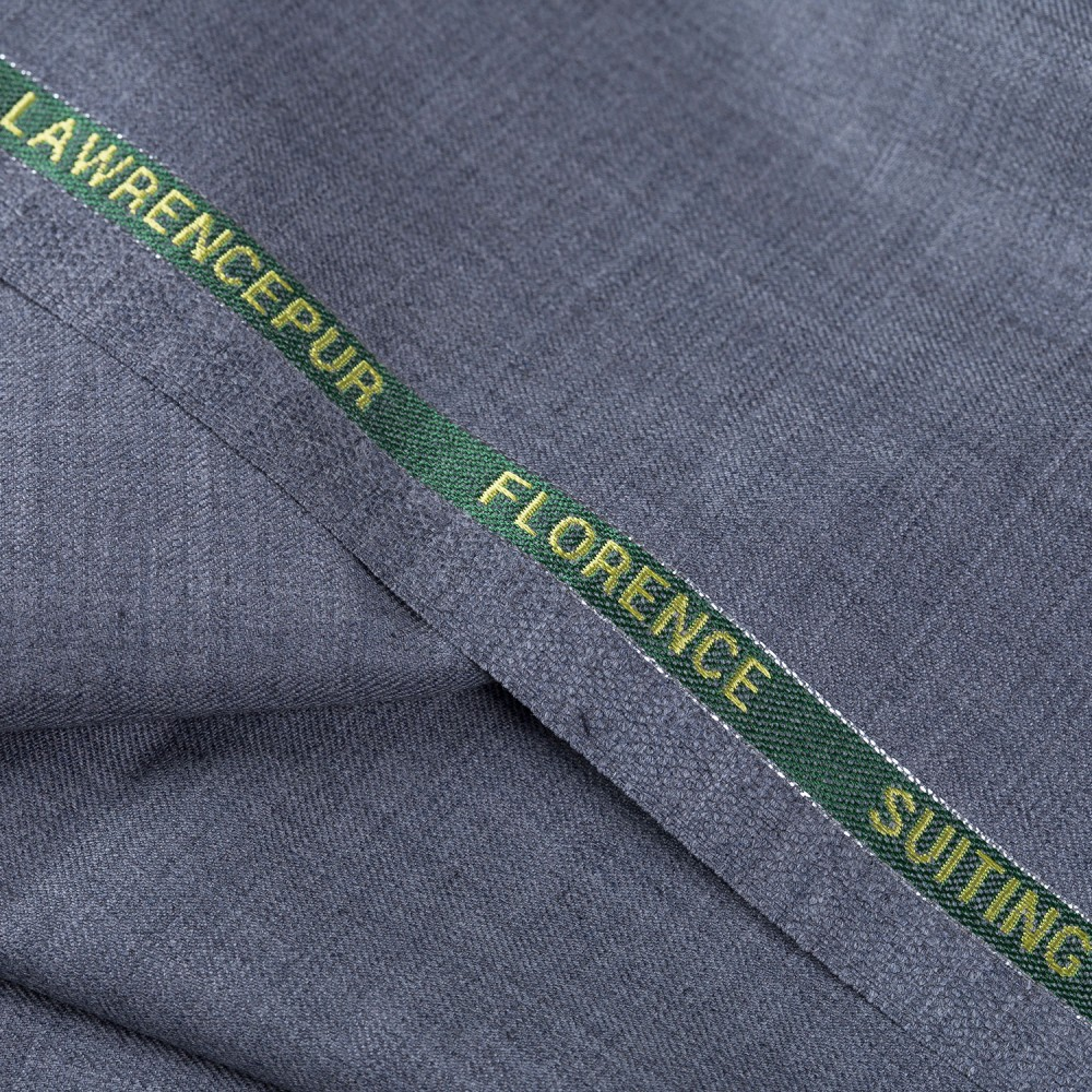 Plain Light Grey Super 140s, Florence Suiting Fabric