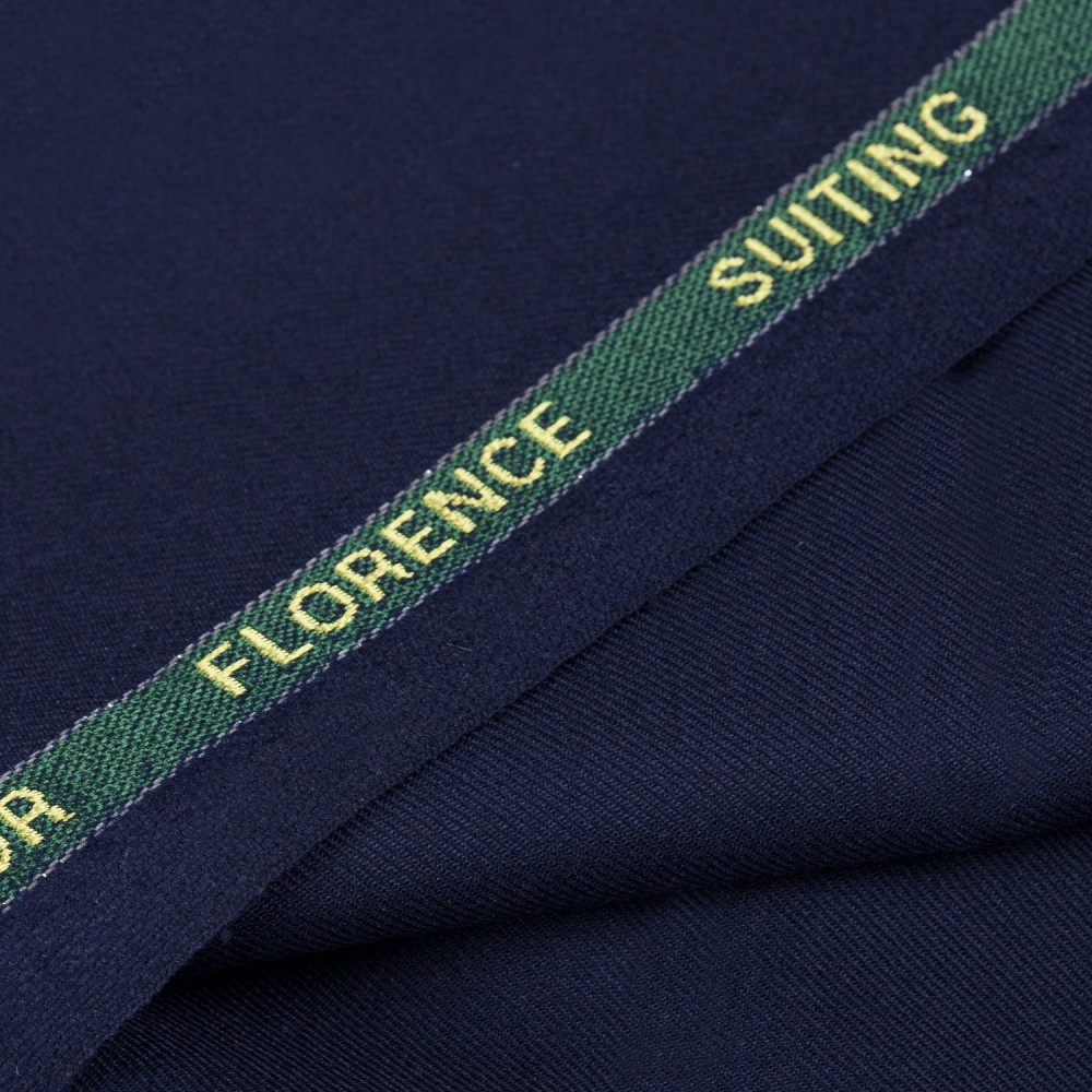Plain Navy Blue Super 140s, Florence Suiting Fabric