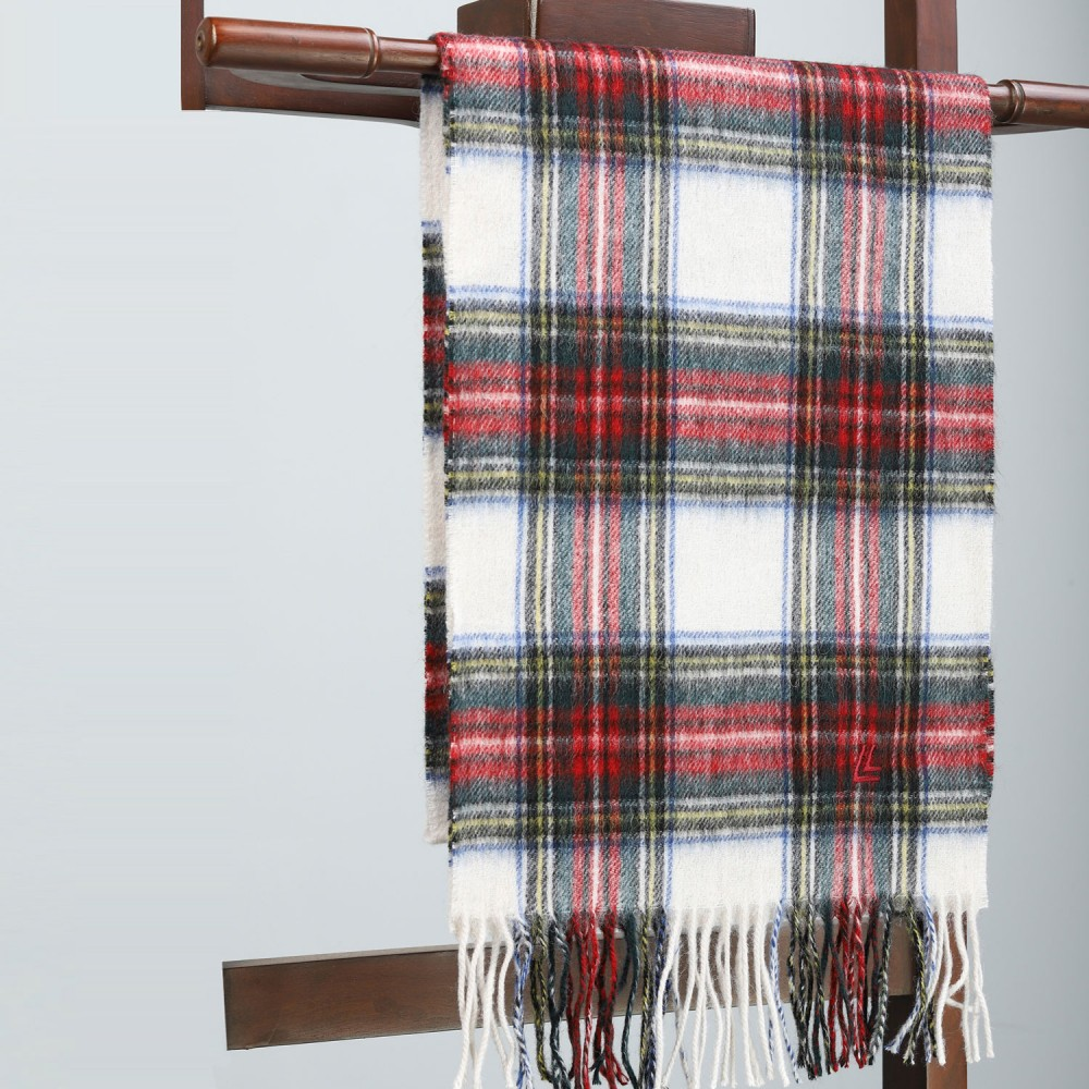Red & white Check Scarf