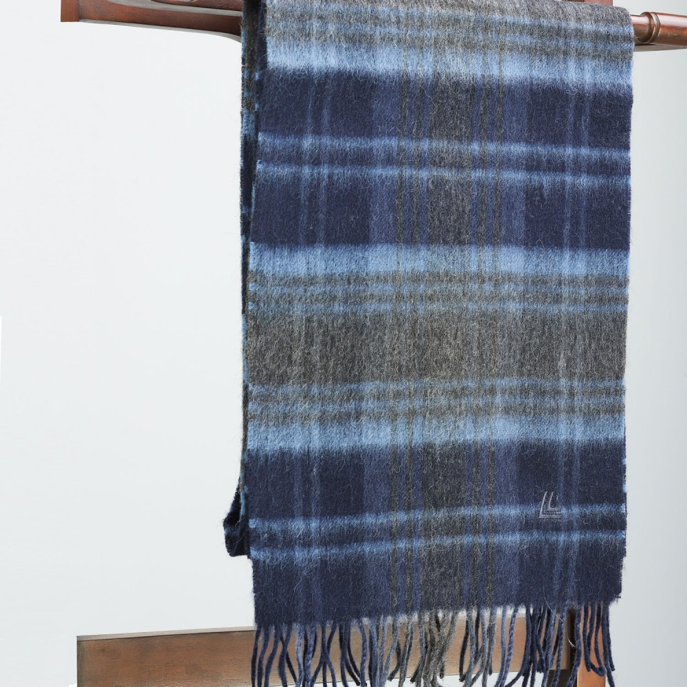 Green & Blue Multi Check Scarf